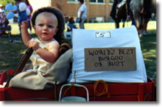 boy in wagon